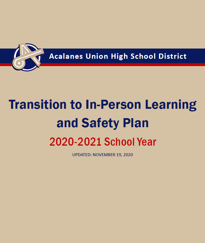 AUHSD Transition to In-Person Learning & Safety Plan