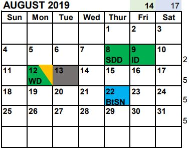 Governing Board Adopts 2019-2020 School Year Calendar.